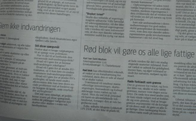Debat i Jyllands Posten