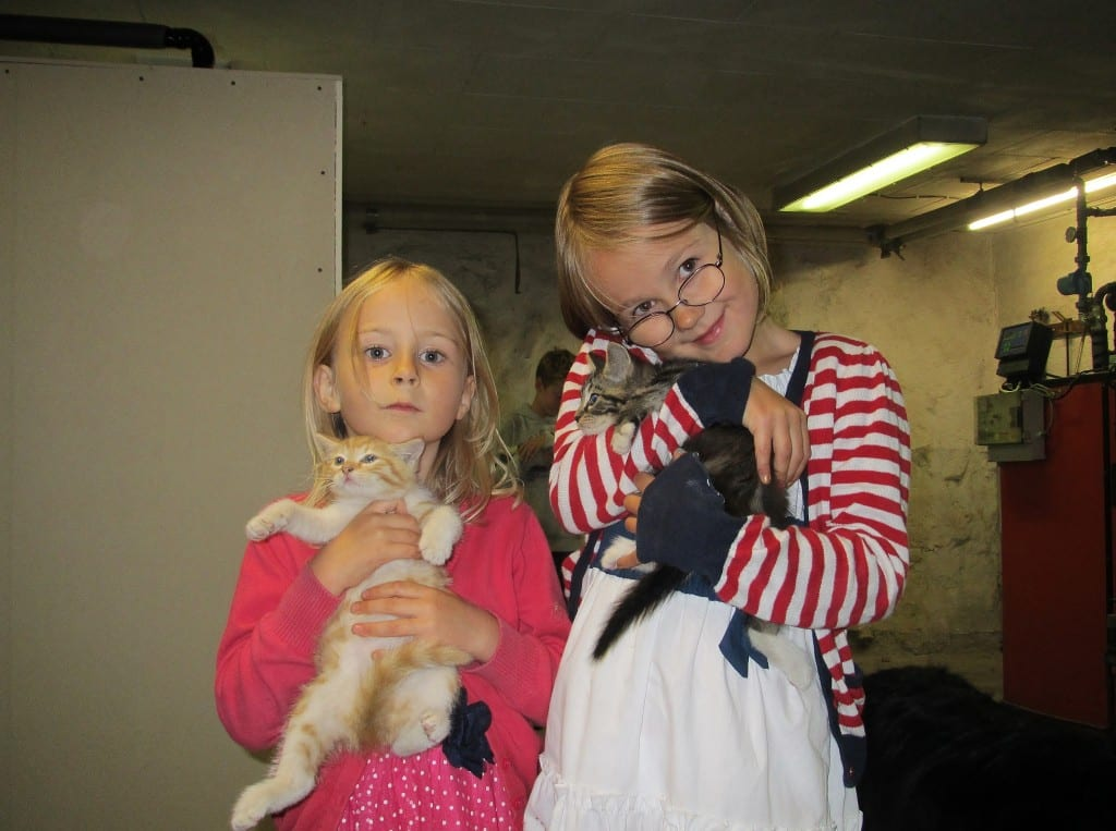 2013 aug Familiefest på Fyn Ida og Matilda med killingerne 005